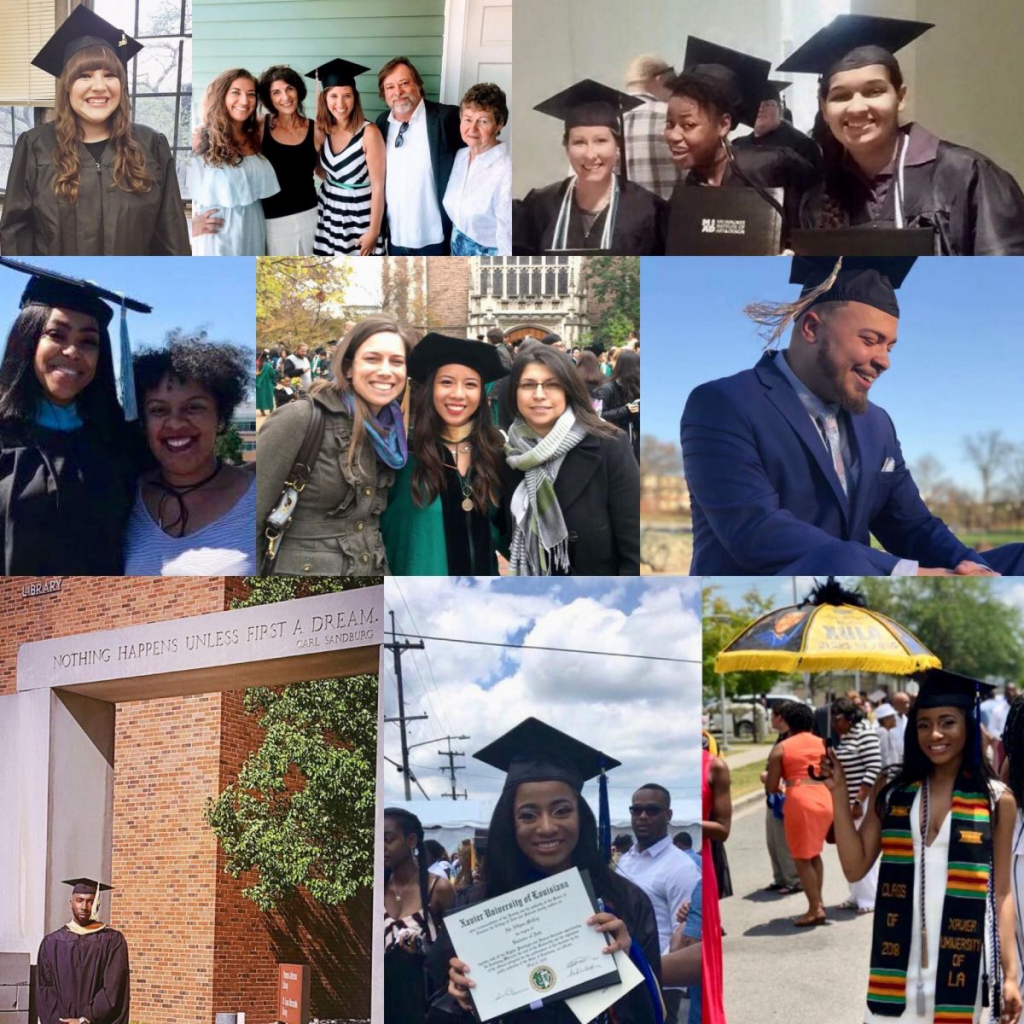 photo collage of college graduate images