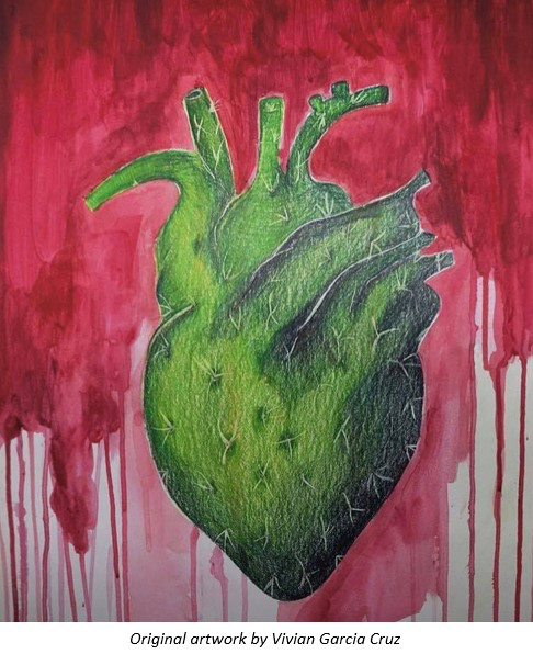 cactus heart artwork